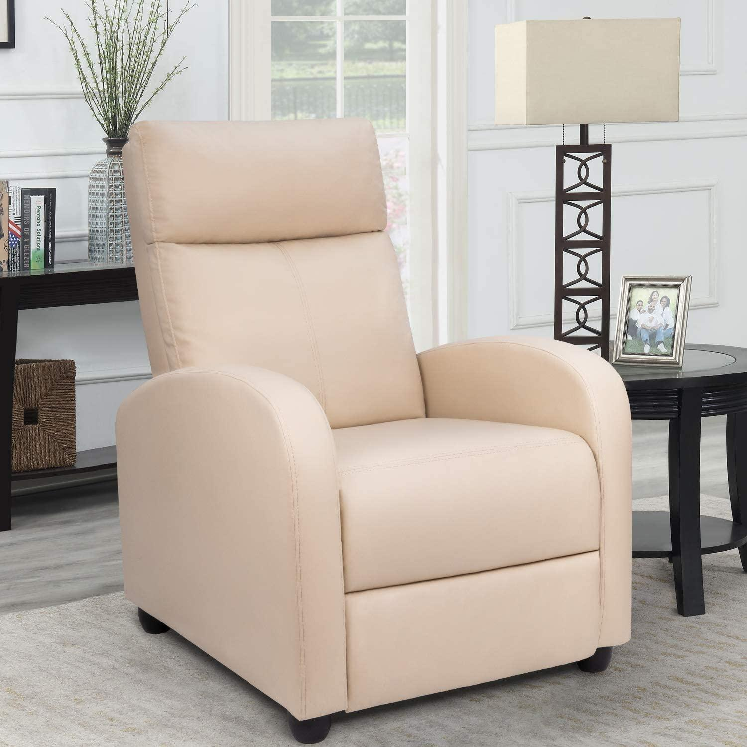 homall single recliner comfortable reading chairs for bedroom