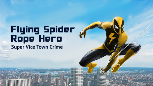 Flying Spider Rope Hero - Super Vice Town Crime screenshots 5