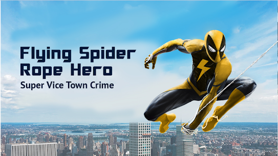 Flying Spider Rope Hero – Super Vice Town Crime 5