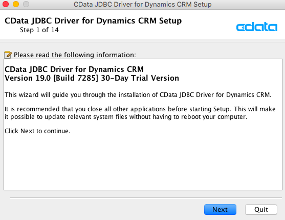 Dynamics CRM JDBCドライバインストール