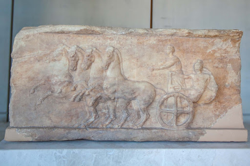 chariot.jpg - A relief of an ancient dedication at the Acropolis Museum in Athens.