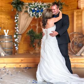 The Dance by Janice Mcgregor - Wedding Bride & Groom ( canon, wedding photography, wedding, canon sl1, bride and groom, bride, groom, dance,  )