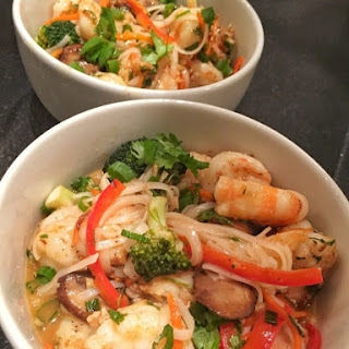 Shrimp And Red Curry Noodles.