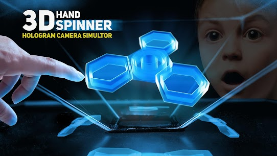 Hand spinner 3d – hologram pyramid 1