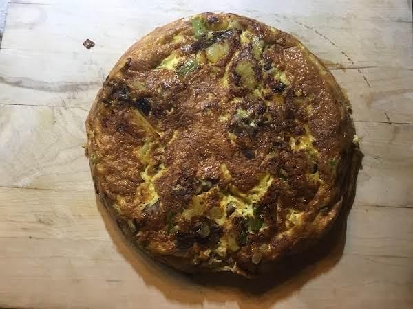 Morel, Asparagus, Potatoes, Smoked Gouda & Onion Frittata.