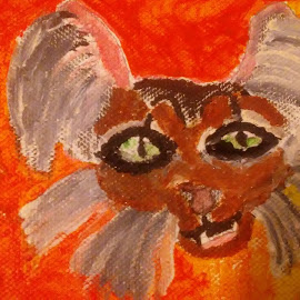 The crazy cat by Shishanna Roberson - Painting All Painting ( crazy cat, cat crazy )