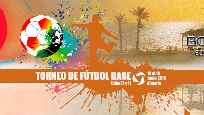 Cartel del evento que se celebra en Roquetas.
