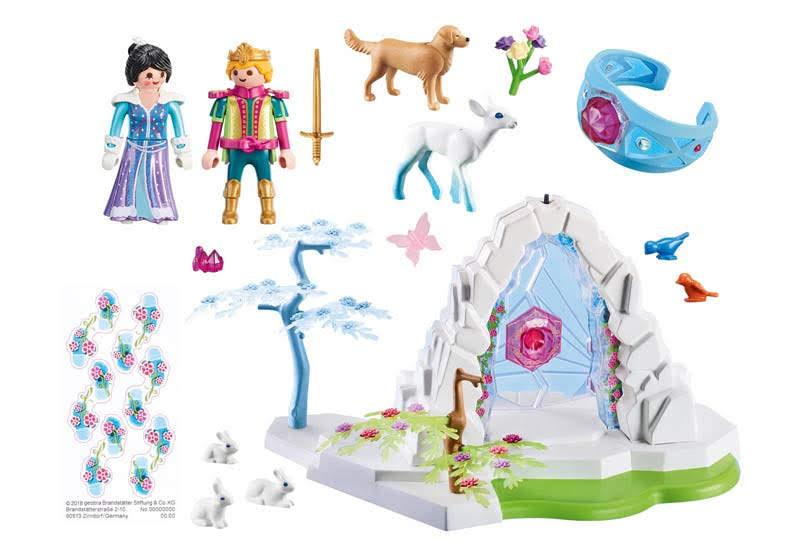Contenido real de Playmobil® 9471 Portal de Cristal al Mundo de Invierno