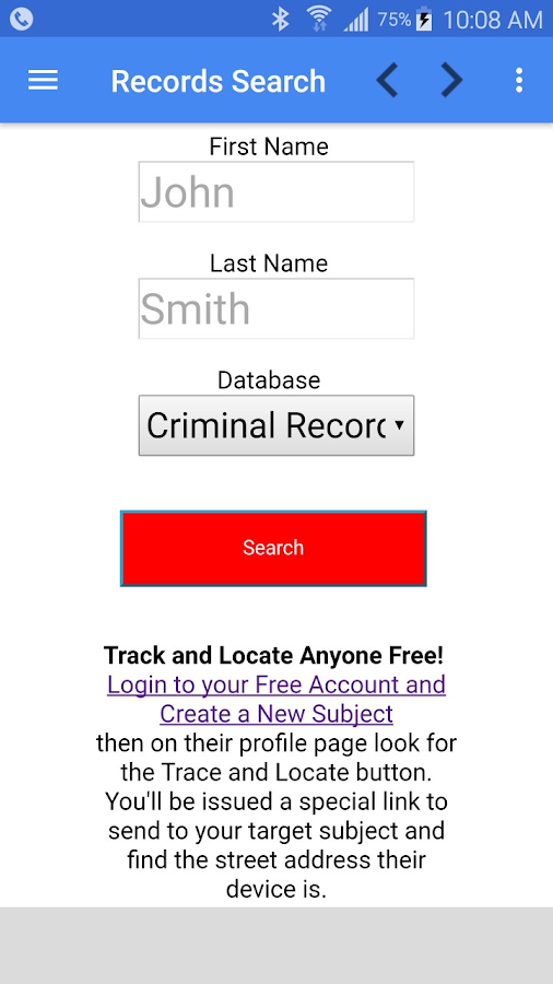 Unlimited Criminal Checks- screenshot