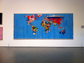 Photo: Mappa - Woven World Map - Alighiero e Boetti  He came up with the idea and then paid Afghani weavers to weave the world map for him.