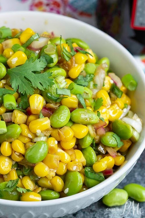 Edamame Cilantro Salad Recipe