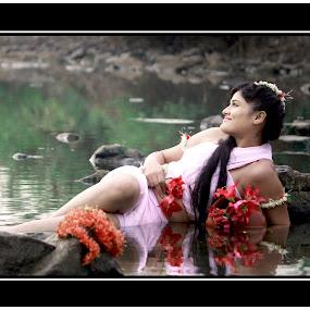 Shakuntala by Gautam Biswas - People Portraits of Women