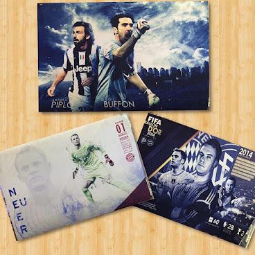 足球系列 24寸絲質海報(可來圖訂做) #Neuer #buffon #Pirlo