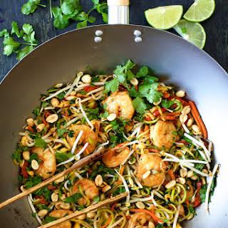 Shrimp Pad Thai with Zucchini Noodles.