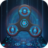 Animated Fidget Spinner Keyboard Theme