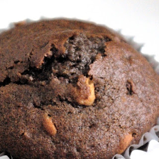 Chocolate Chocolate-Chip and Peanut Butter Muffins