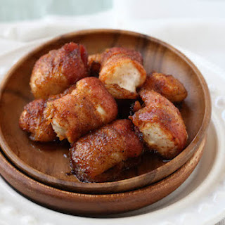 Sweet and Spicy Bacon Wrapped Chicken Bites