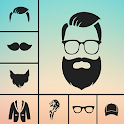 Man Photo Editor : Man Hair style ,mustache ,suit icon