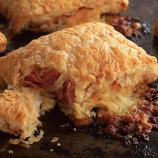 Cheese and Ham Breakfast Pastries.