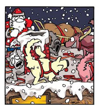 "Photo: ""Why Santa Doesn't Use Dog Teams Anymore"" illustration"