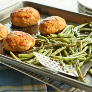 Mini Turkey Meatloaf and Maple Green Beans Sheet-Pan Dinner.