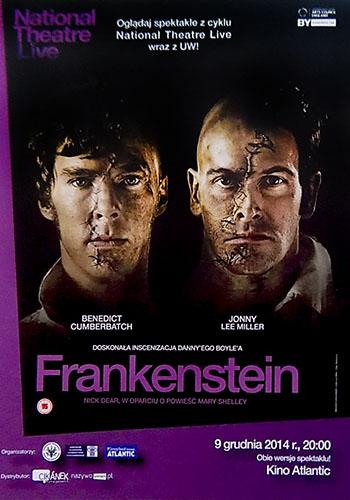 Przód ulotki filmu 'National Theatre Live: Frankenstein'