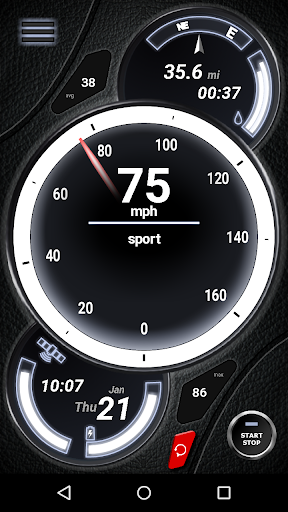 GPS Speedometer (No Ads) screenshot 2