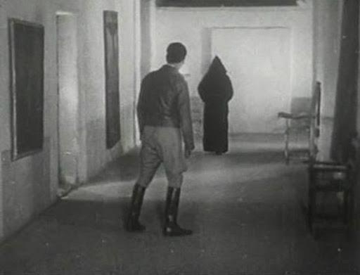 Representación de una aparición de un monje