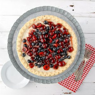 Cherry-Blueberry Cloud Pie
