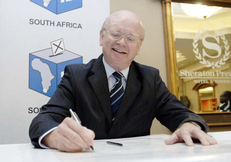 8b27a1d50b44 Douglas Gibson of the DA during the political parties representatives who  gathered to sign the electoral