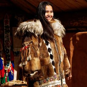 Alaskan Native Princess by Rev Marc Baisden - People Portraits of Women ( native stories, adventure, clothes, seasons, alaska, travel, natives )