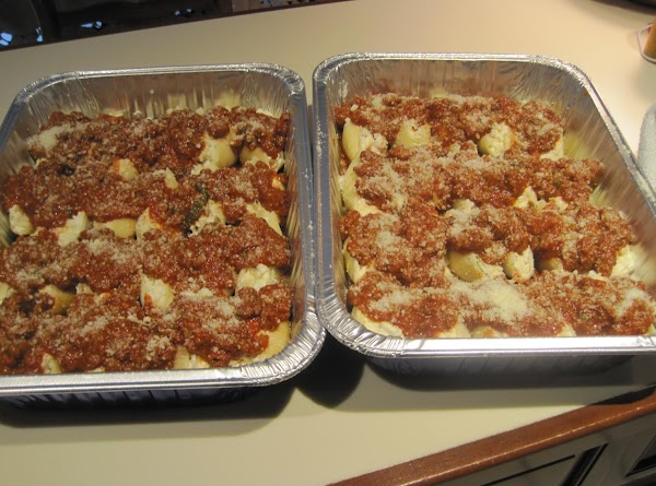 Make the meat sauce or any pasta sauce you like with or without meat...