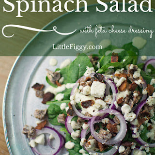 Spinach Salad with Feta Dressing.