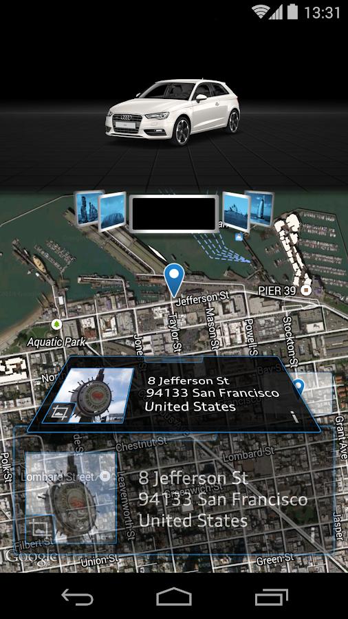 Audi MMI connect - screenshot