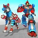 Police Dog Robot Transformation: Robot Shooting icon