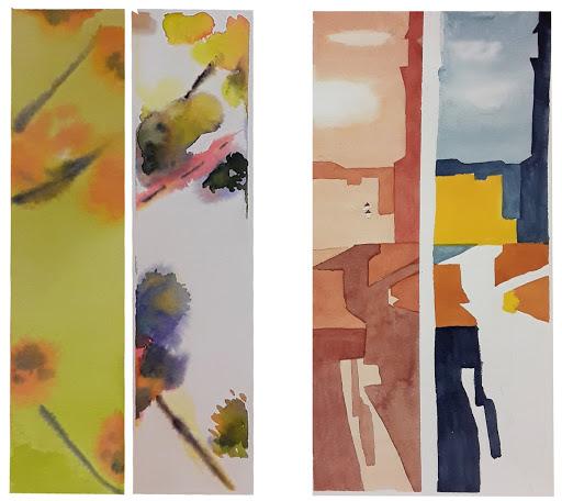 Jeanne PAPA_STAGE Vers une aquarelle abstraite _2019_ travail de Nadine et Catherine