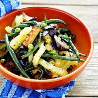 Summer Vegetables in Black Garlic Sauce