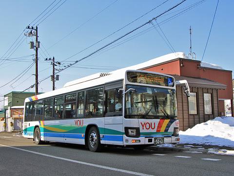 夕張鉄道 夕張支線代替バス 5061_03 ホテルシューパロ前にて