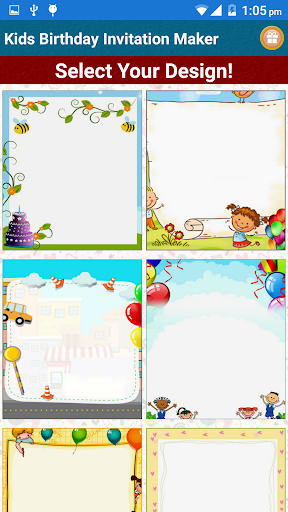 Kids Birthday Invitation Maker  screenshots 1