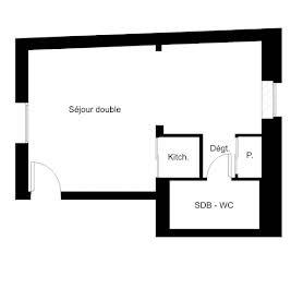 Studio 22,06 m2