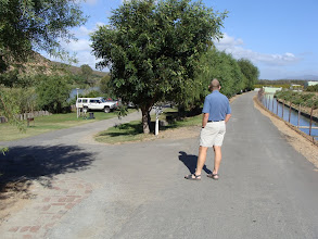 Photo: Karavaanpark. Die kanaal is aan die regterkant en die Breërivier aan die linkerkant
