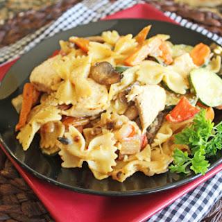 Garlic Chicken and Vegetable Bowtie Pasta
