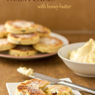 Welsh Cakes With Honey Butter.
