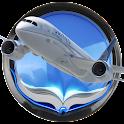 Modern aircraft icon