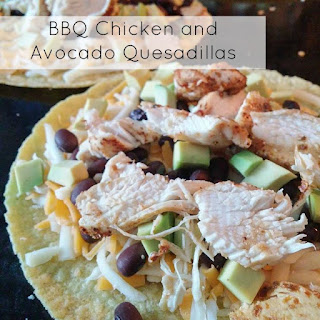 BBQ Chicken and Avocado Quesadillas