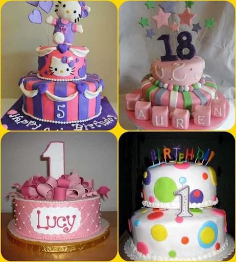誕生日ケーキのデザイン