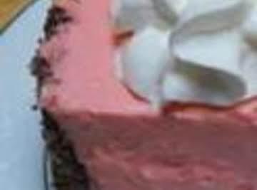 Mom's 1950s Pink Jello Cheesecake