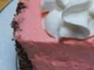 Mom's 1950s Pink Jello Cheesecake