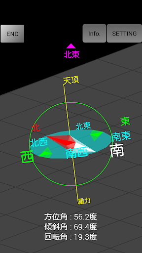 3D Compass Gyroscope app (apk) free download for Android/PC