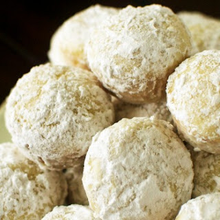 Baked Powdered Sugar Donut Holes.